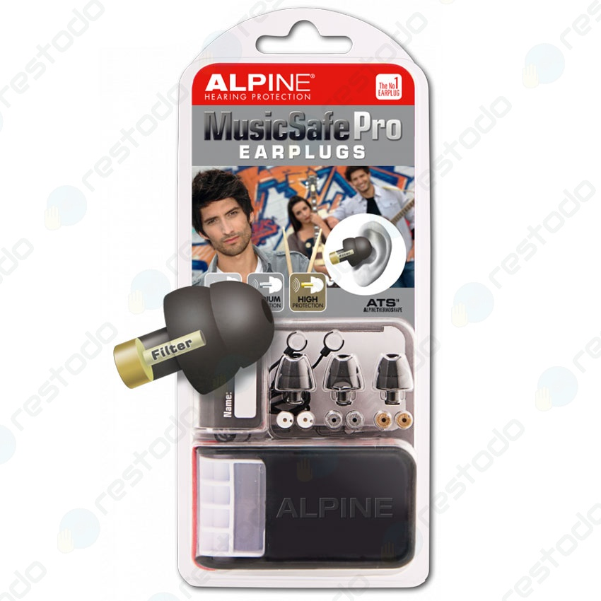 Protector Auditivo Alpine Hearing Protection MusicSafe Pro Negro