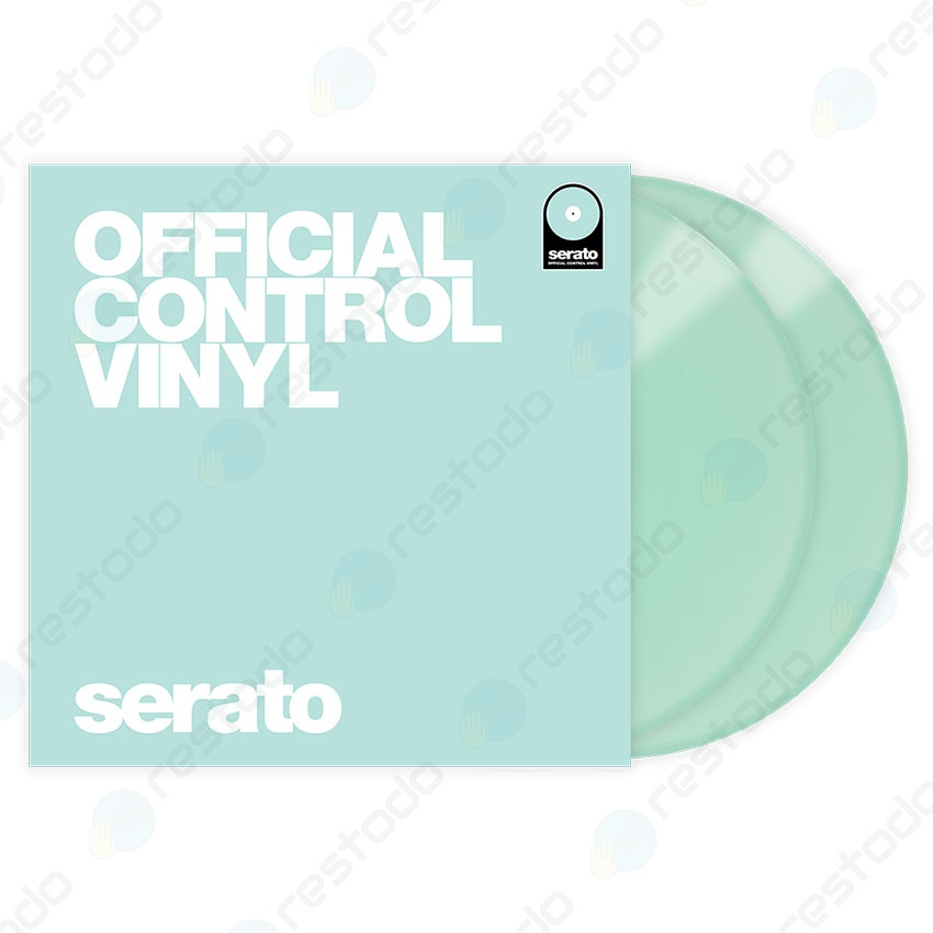 Vinilo de Control de Tiempo Serato DJ Performance Series Glow In The Dark (Par)