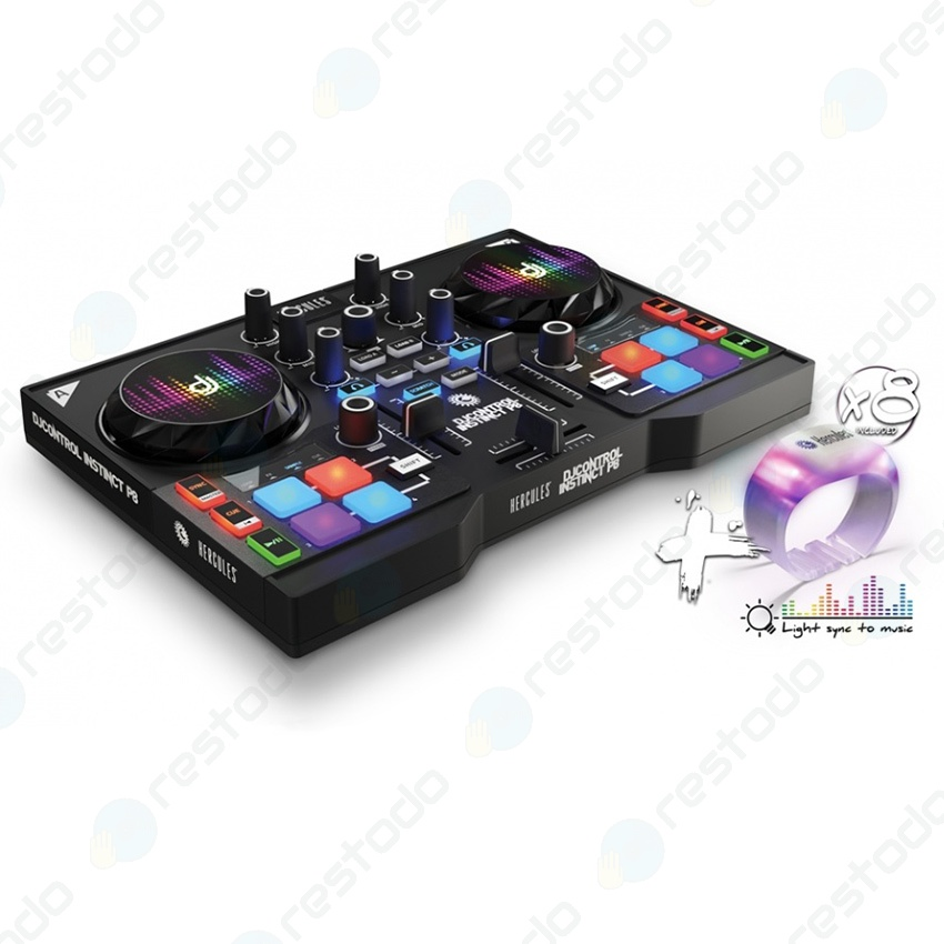 Controlador Hercules DJControl Instinct P8 Party Pack