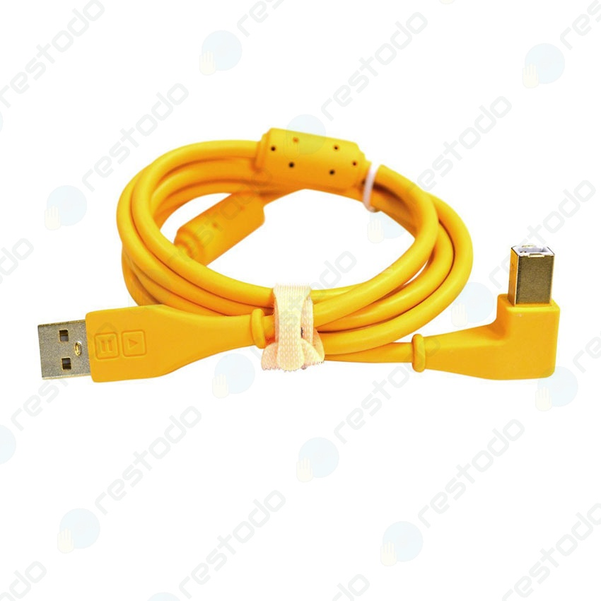 DJ Techtools Chroma Cable USB En Angulo Amarillo