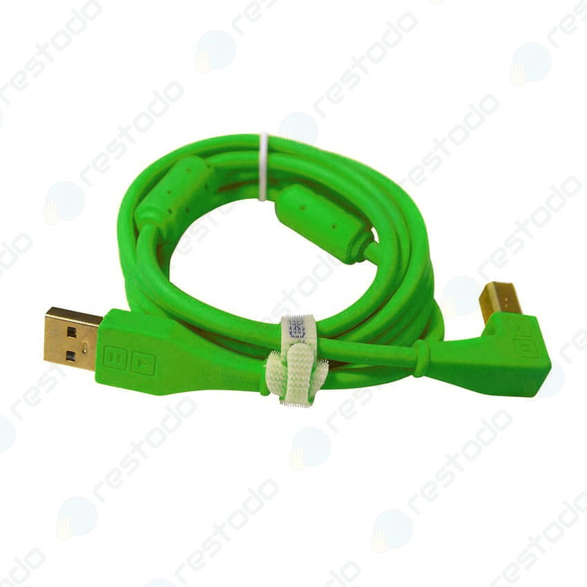 DJ Techtools Chroma Cable USB En Angulo Verde